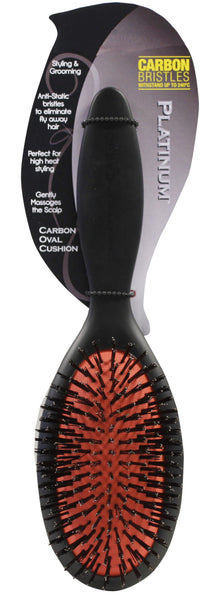 Platinum Carbon Oval Cushion Brush