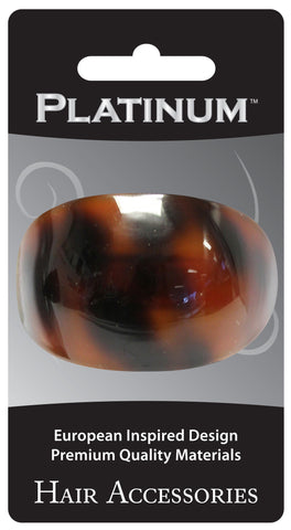 Platinum Oval French Clip Tortoise Shell