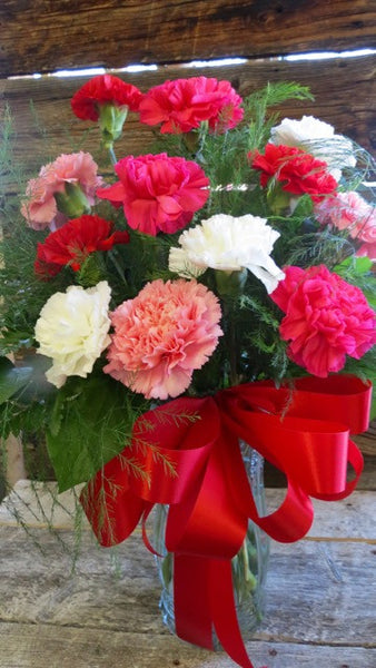 Long Lasting Carnations  - One Dozen