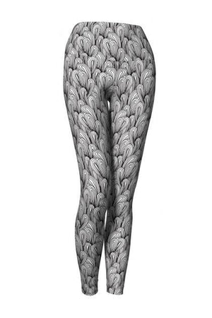Eco Friendly, Yoga leggings, Doodle Line Art