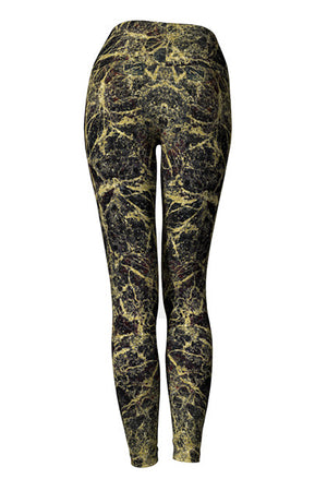 leggings - black and gold