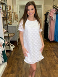 White Big Polka Dot Dress