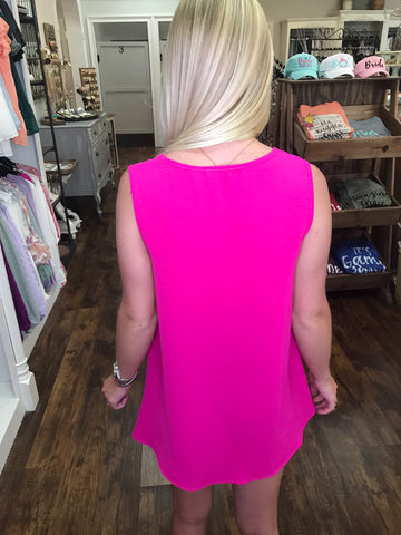 Solid Must Have Tank: Hot Pink