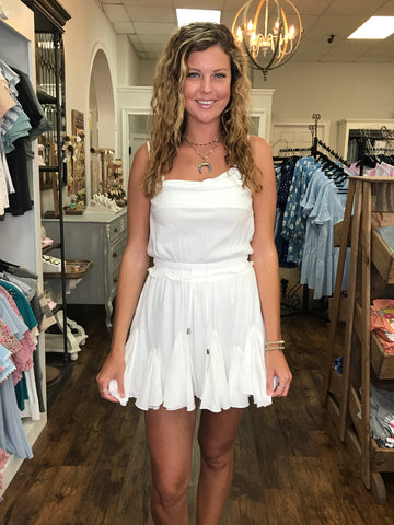 White Flow Romper