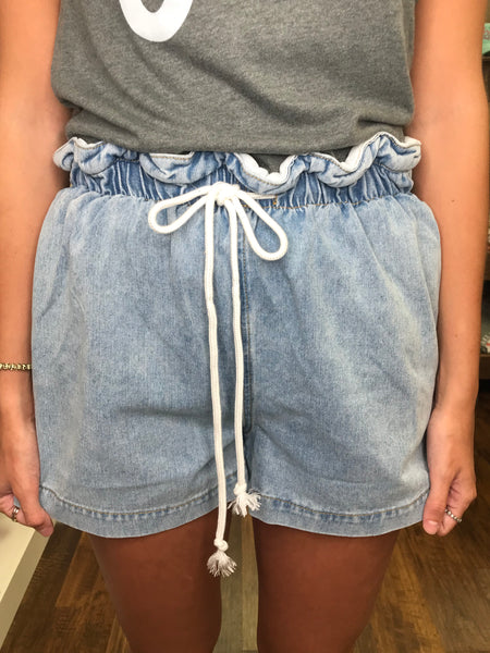 Drawstring Paper Bag Shorts