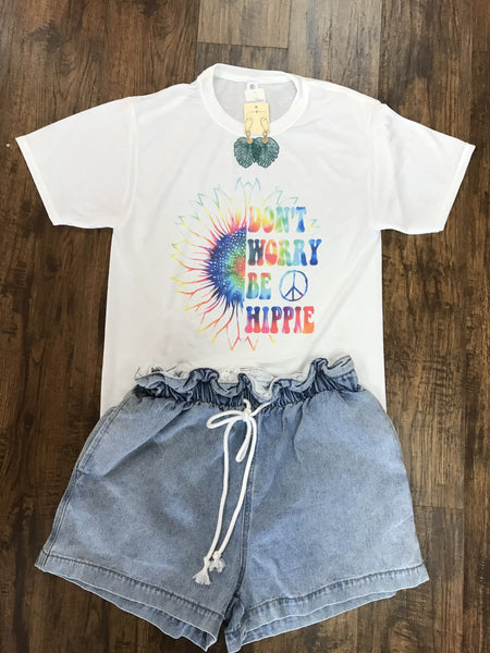 Don't Worry Be Hippie Tee