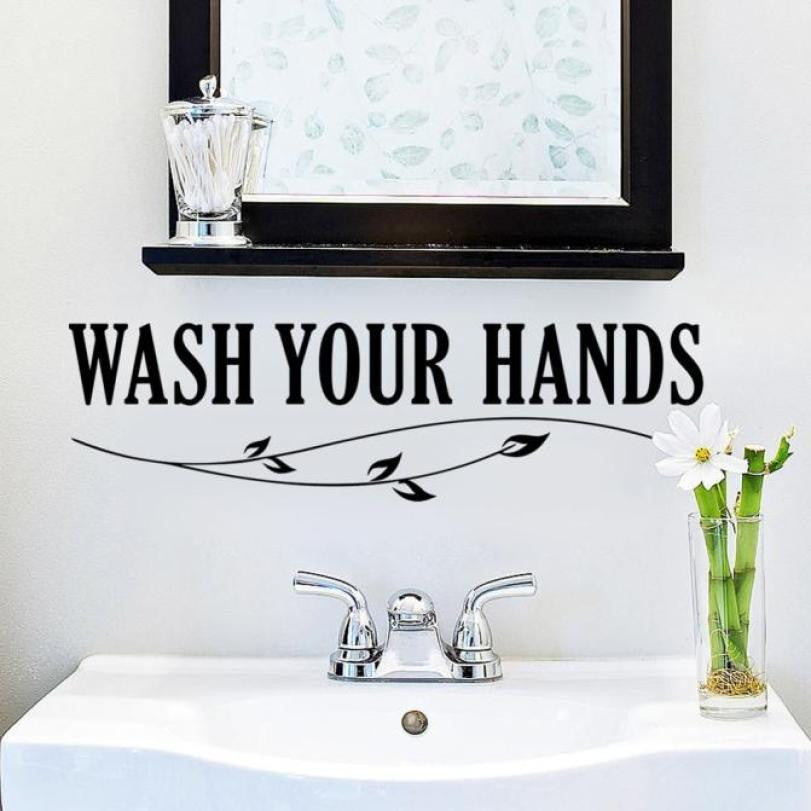 Wash Your Hands Bathroom Wall Decal