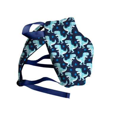 Mini Backpack - Navy - Raptor Print