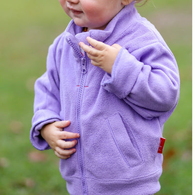 Full Zip Micro Fleece Top - Violet