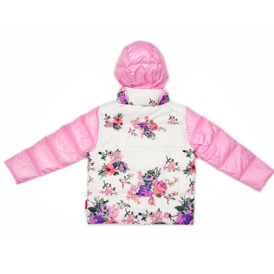Car Seat Safety Road Coat®Down Jacket - Pink/Floral