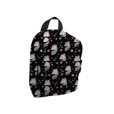 Mini Backpack - Black Unicorn