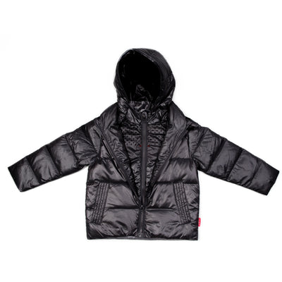 Car Seat Safety  Road Coat®Down Jacket - Black