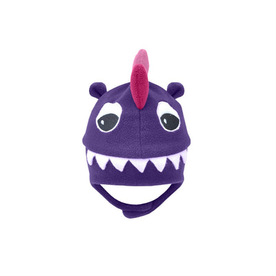 Fleece Hat - Purple Raptor