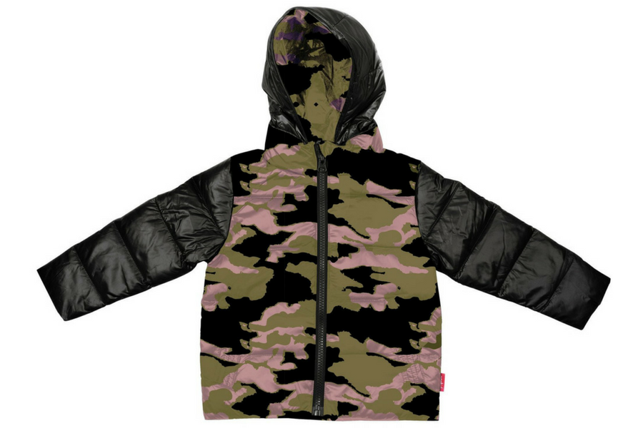 The Road Coat®Down - Black/Camouflage