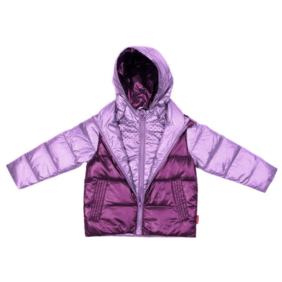 Car Seat Safety Road Coat®Down Jacket - Lilac/Plum
