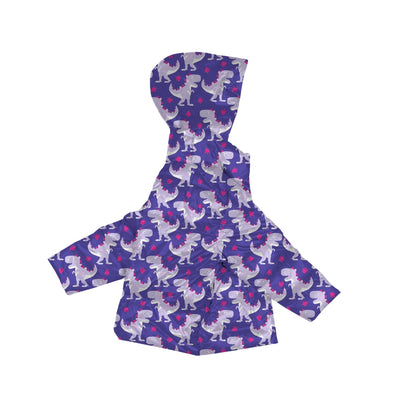Car Seat Safety Road Coat®Vegan Jacket - Purple Raptor