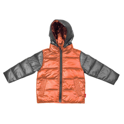 Car Seat Safety Road Coat®Down Jacket - Platinum / Orange