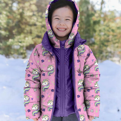 Car Seat Safety  Road Coat®Down - PINK UNICORN