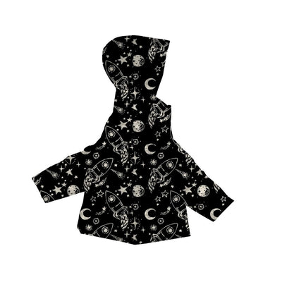 Car Seat Safety Road Coat®Vegan Jacket - Rocketship Print