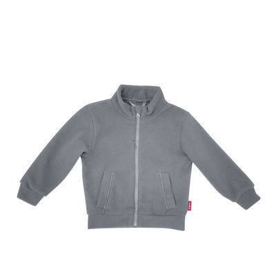 Full Zip Micro Fleece Top - Platinum