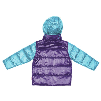 Car Seat Safety  Road Coat®Down Jacket - Aqua / Purple