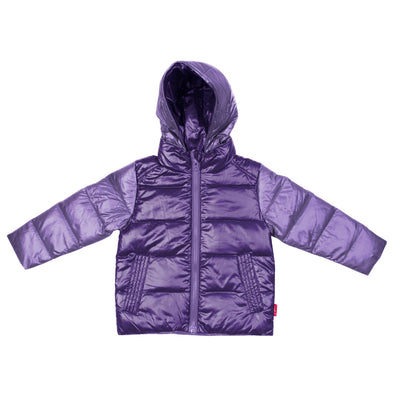 Car Seat Safety  Road Coat®Down Jacket - Violet / Purple