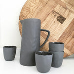 Flax Ceramic Tumblers Set of 4 (Charcoal Grey)