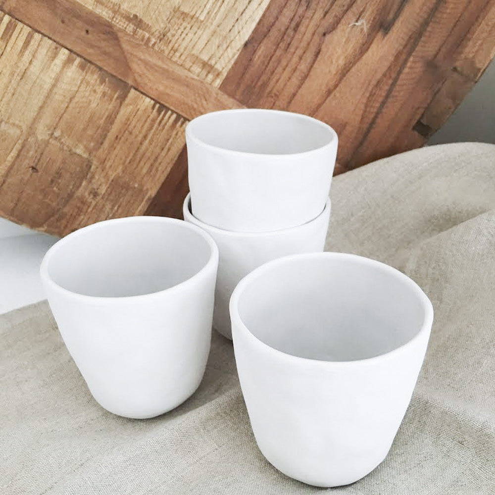 Flax Ceramic Tumblers Set of 4 (Snow White)