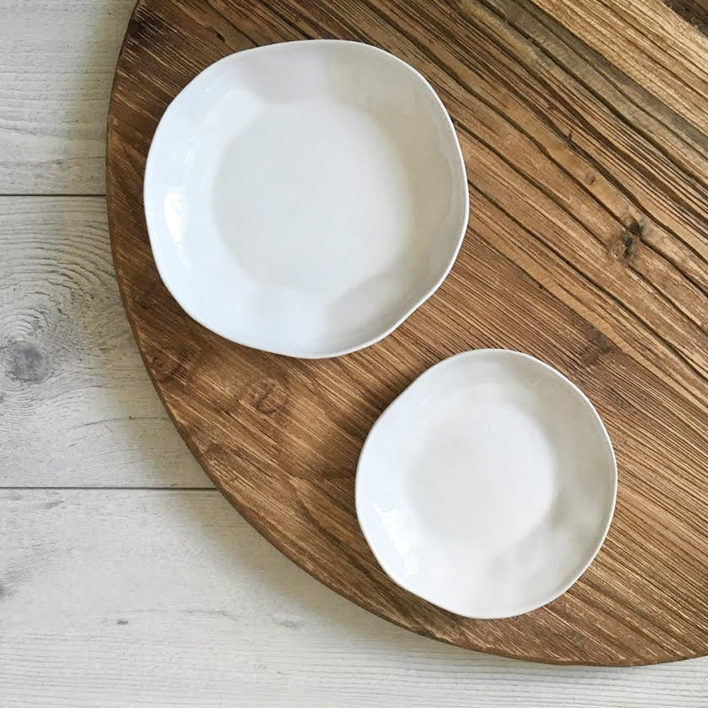 Flax Saucers Set of 4 (Snow White)