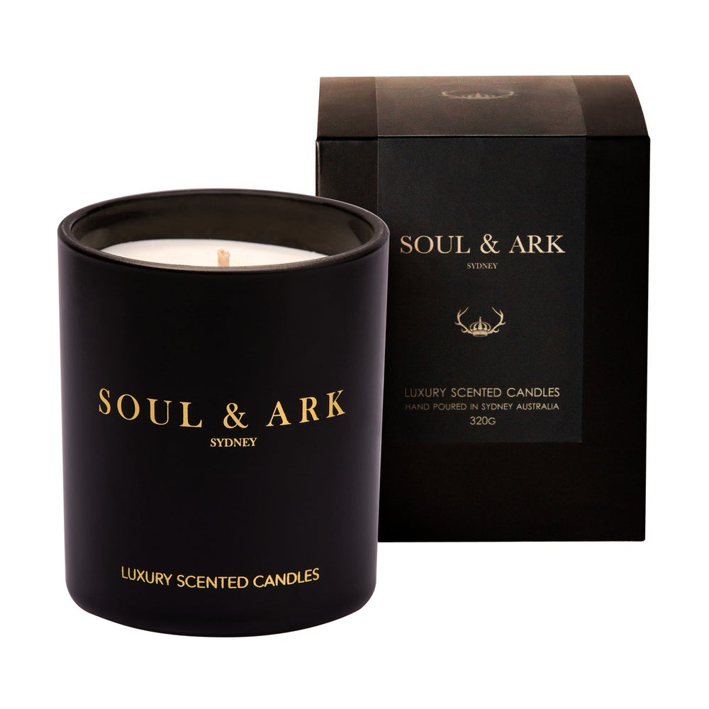 Soul & Ark Luxury Scented Candle (Leather and Sandalwood)