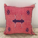 Moroccan Cactus Silk Cushion (Pink)