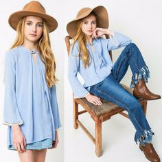 Hayden LA, LA fashion, blue lace top, teen fashion