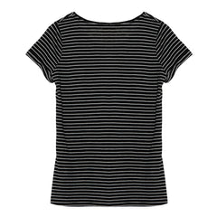 Hayden LA, v neck tee, black stripe tee