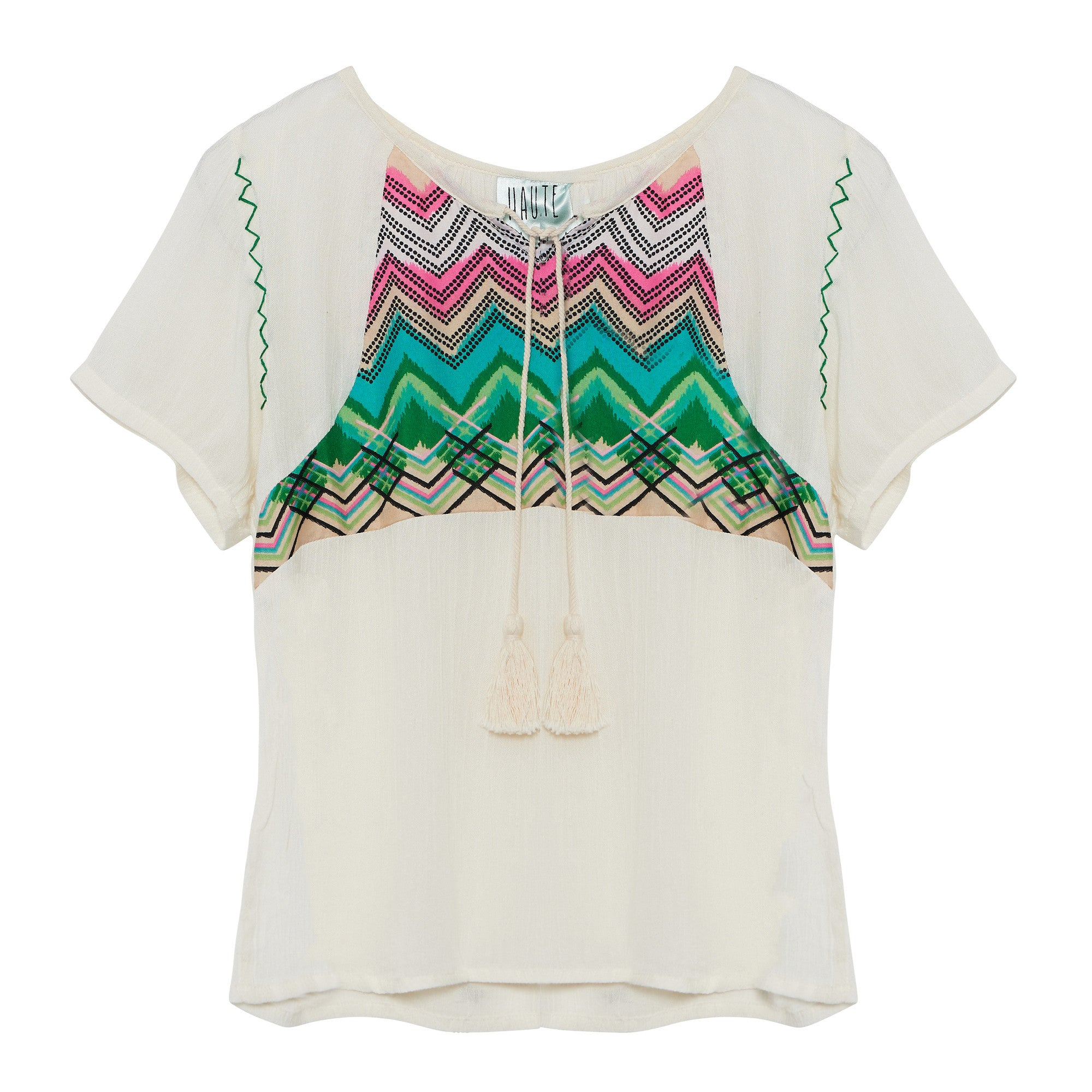 Haute hits, peasant tee, embroidered, boho style