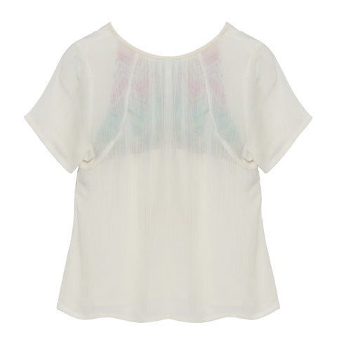 Embroidered Peasant Tee | Haute hits (USA) - SIZE 14 ONLY