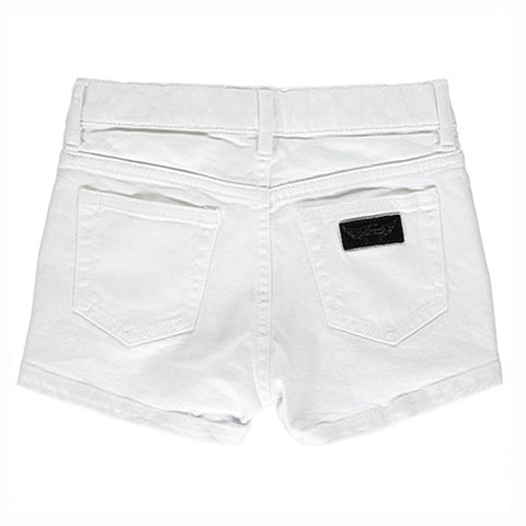 Finger in the nose, french brand, white denim shorts, white mini shorts