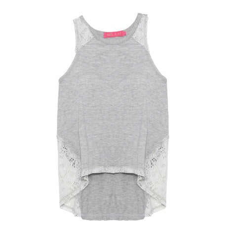 Lace Panel Tank | Me.N.U (New York) - SIZE L ONLY