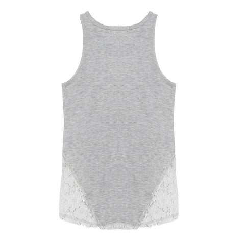 Me.n.u, Lace tank top, grey lace top