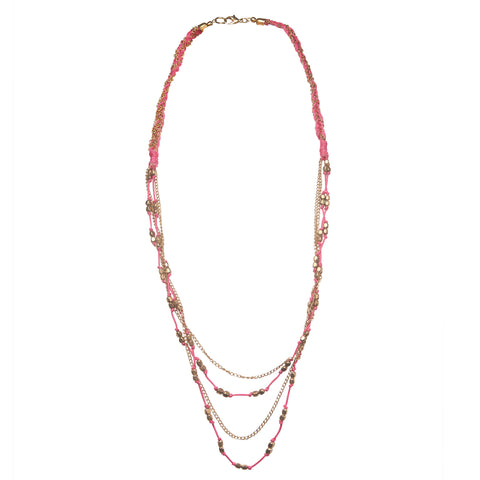 BOAM, french brand, pink beaded necklace, teen fashion