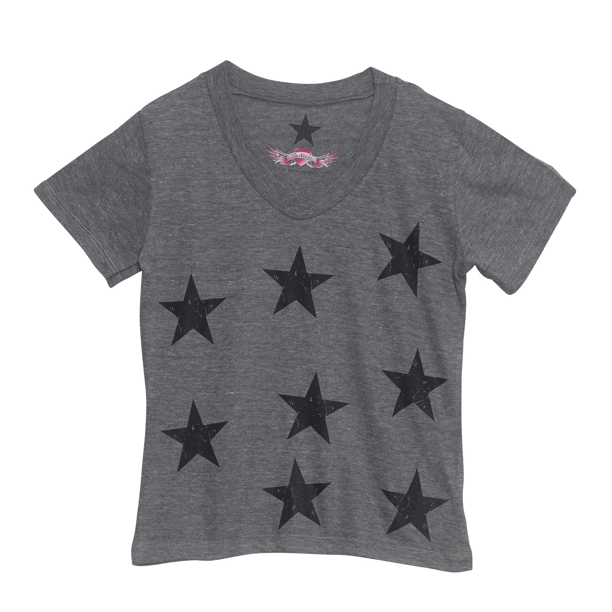 So Nikki, scattered stars tee, vintage stars tee