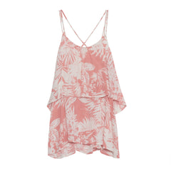 Kiddo, palm print top, pink swing top