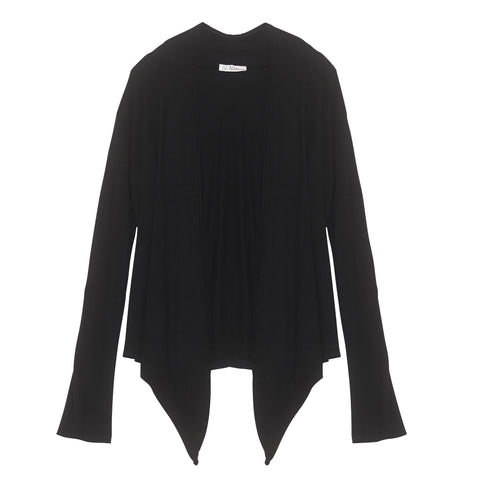 Basic Wrap Cardigan - Black | So Nikki (USA)
