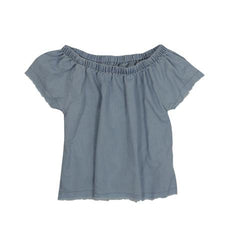 Frayed Off-Shoulder Top | Pinc Premium (USA) - SIZE 10 ONLY