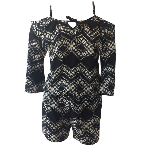 Aztec Cold Shoulder Playsuit | Pinc Premium (New York) - SIZE S ONLY