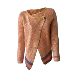 Biker Cardigan, Apricot Knit cardigan, Glitter biker cardigan, R'belle scotch & soda, teen fashion
