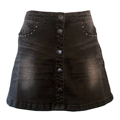 Black Denim Skirt | Indian Blue (Netherlands) - SIZE 10 ONLY