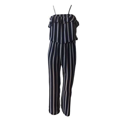 Black & Navy Striped Jumpsuit | Pinc Premium (New York) - SIZE S (10) ONLY
