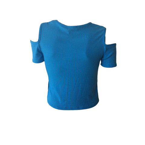 Blue Cold Shoulder Terr, Blue CS Tee, Blue CS tank, Pinc Premium, Teen fashion
