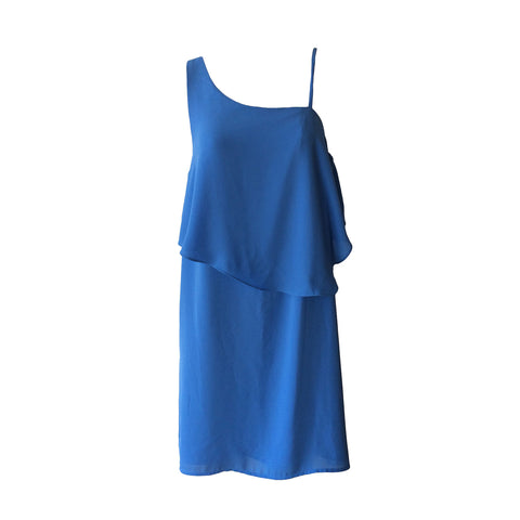Cornflower Frill Dress | Aqua (USA) - SIZE 16 ONLY