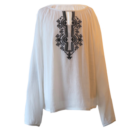 White Embroidered Blouse | Blue Seven (Germany)